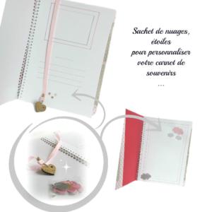 """Album photo """" Je suis une princesse"""" carnet de souvenir personnalisable  rose.  Unique et originale ."""