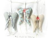 Ailes d'ange en tissu au choix décoration à suspendre, original fait main.