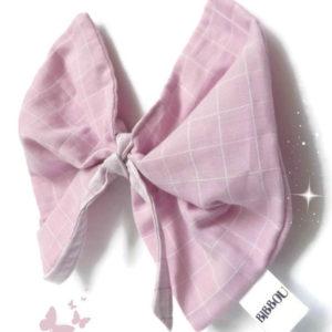 Doudou lange papillon rose pour bébé .Tissu coton 100% biologique GOTS. Fabrication française.Original.