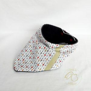 Bandana, tour de cou réversible coton doublé micropolaire  à partir de 9 mois ajustable.Fait main ,unique et originale.