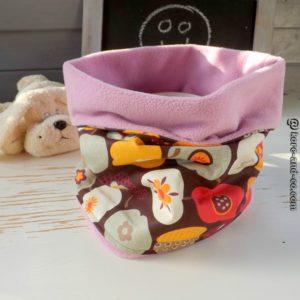 Snood Hiver,multicolore .Tissu coton et polaire .Pour enfant  4 ans et plus.