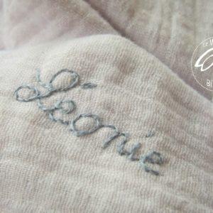 Doudou  oreilles de lapin, tissu double gaze de coton RÉSERVÉ❀❀❀  Charlotte ❀❀❀