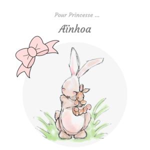 Commande personnalisée pour BB  ❀❀❀ Aïnhoa ❀❀❀ Cadeau de naissance.