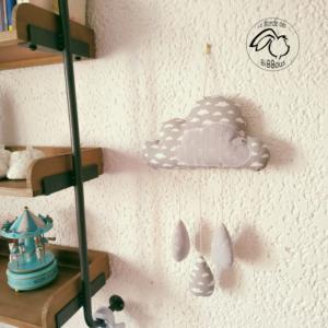 Décoration chambre d'enfant nuage et gouttes de pluie  RESERVE  Sarah.