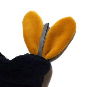 Doudou lapin lange personnalisé. Multi sensoriel .Original fait mains.